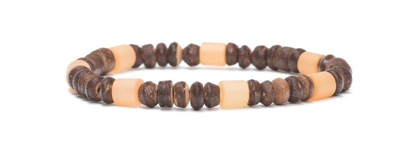 Armband mit Kokosnussperlen Dunkelbraun