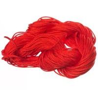 Makramee- und Schmuckband, Durchmesser 1 mm, 22 Meter-Paket, rot