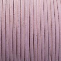 Korkband, Durchmesser 5 mm, Länge 1 m, rosa