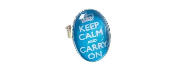 Motivring Keep Calm Blau