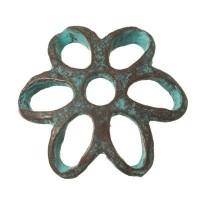 Patina Metallperle Perlkappe, 13 x 13 mm
