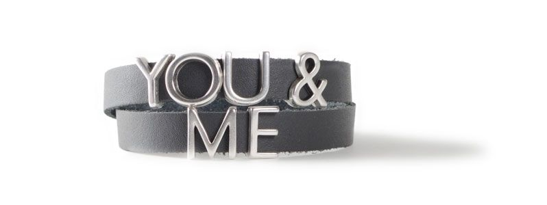 Armband mit Buchstabenperlen YOU & ME