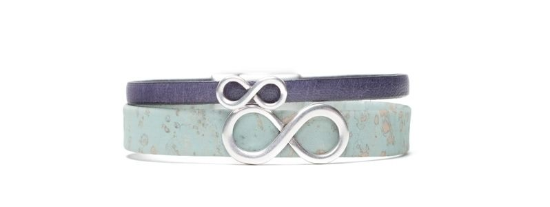 Armband mit Infinity Slidern Versilbert