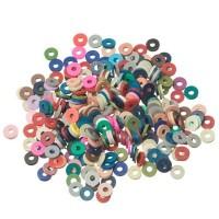 Katsuki Perlen, Durchmesser 6 mm, Farbe Multicolor 2, Form Scheibe , Menge ein Strang
