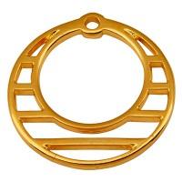 Metallanhänger Rund, Durchmesser 23 mm, vergoldet