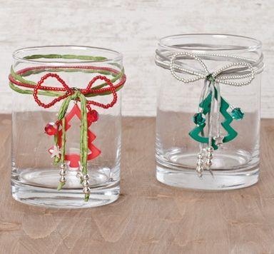 Weihnachtliches Kerzenglas