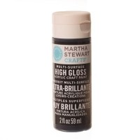 Martha Stewart Multi Surface Acryl-Farbe, beetle black, 59 ml