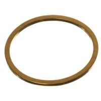 CM Metallanhänger Kreis, 16 x 1 mm, goldfarben