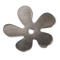 Metallperle Perlkappe Blume, Durchmesser 32 mm, versilbert