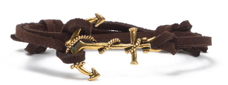 Ankerarmband Gold-Braun