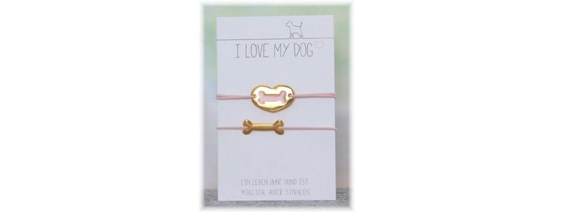 Schmuck für Tierfreunde - Elastische Hundearmbänder