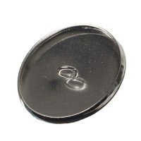Deckel für Glaskugel, Öse beidseitig, für Kugelöffnung  20 mm, silberfarben