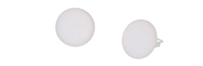 Ohrclips Weiß