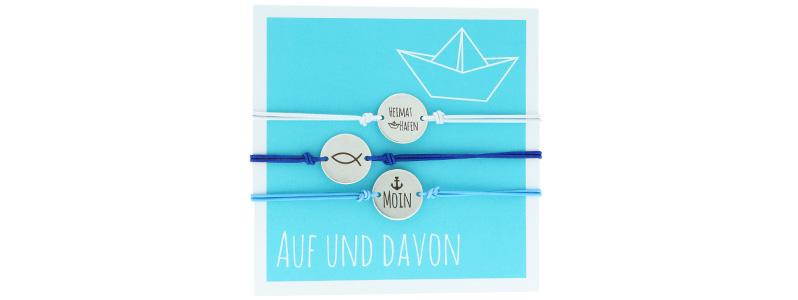 """Set Armbänder mit Coins """"Auf und Davon"""""""