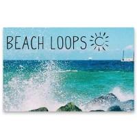 """Schmuckkarte """"Beach Loop - Brandung"""", quer, Größe 8,5 x 5,5 cm"""