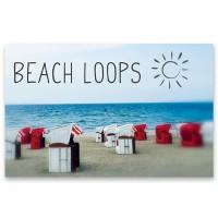 "Schmuckkarte ""Beach Loop - Strandkörbe"", quer, Größe 8,5 x 5,5 cm"