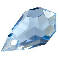 Preciosa Drop Pendant 681, 6 x 10 mm, light sapphire
