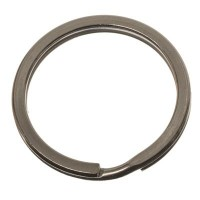 Edelstahl Schlüsselring flach, Durchmesser 30 mm, silberfarben