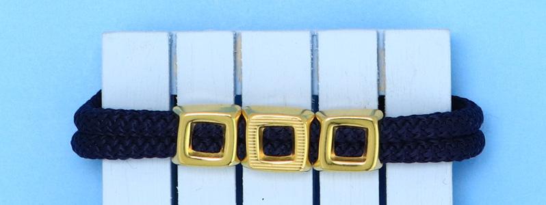 Maritimes Armband mit Tau und Magnetverschluss vergoldet