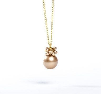 Goldschöne Ketten mit Swarovski Crystal Pearl Anhänger