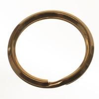Edelstahl Schlüsselring, Durchmesser 28 mm, goldfarben