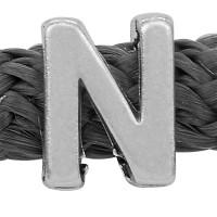 Grip-It Slider Buchstabe N, für Bänder bis 5mm Durchmesser, versilbert