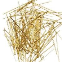 100 Kettelstifte, Länge 45 mm, goldfarben