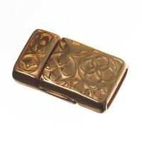 Magnetverschluss, viereckig, für breite Bänder (10 x 2 mm), vergoldet