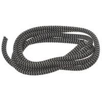 Segelseil / Kordel, Durchmesser 5 mm, Länge 1 m, schwarz-weiß gestreift