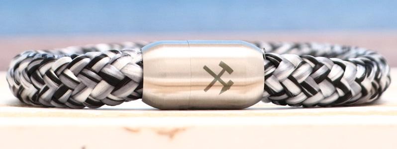 Segeltauarmband mit 8 mm Segeltau Bergmann