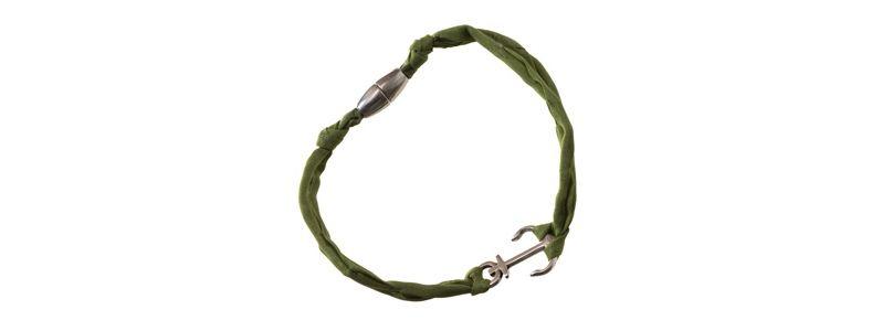 Seiden-Armband Grün Anker