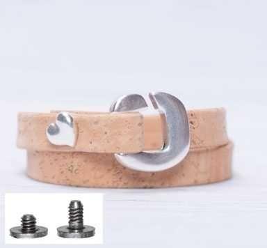 Screws-Armband mit Verschluss-Schlaufe