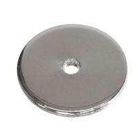 Metallperle, Scheibe, ca. 10 mm, silberfarben, wie MP1