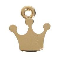 Metallanhänger, Krone, 17 x 14 mm, vergoldet