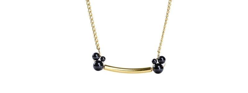Goldene Röhrenkette Mystic Black