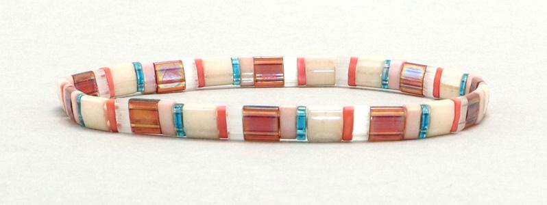 Elastisches Armband mit Tila-Perlen Mix Island Hopper