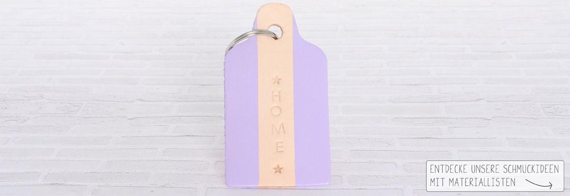 Schlüsselanhänger mit Lederfarbe und Prägestempeln machen