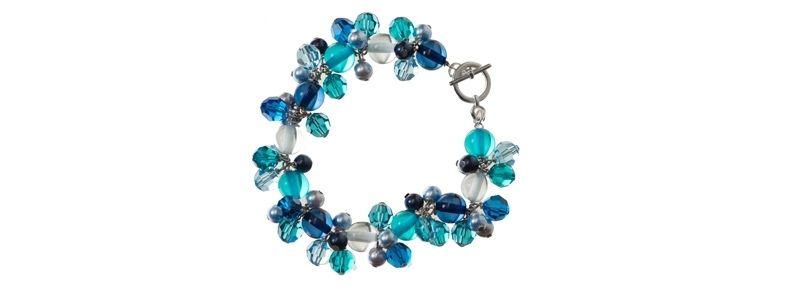 Frühlingsarmband Blau