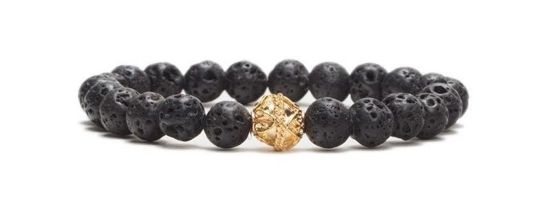 Armband bunte Lava Schwarz