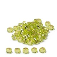 Miyuki Rocailles rund  11/0  (ca. 2 mm), Chartreuse Silver-Lined, 24 gr.