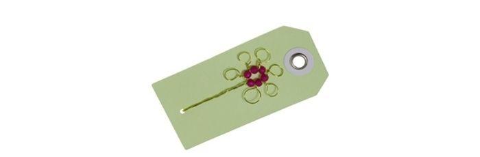 Geschenkanhänger Grüne Blume