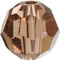 Swarovski Elements, rund, 6 mm, light smoked topaz