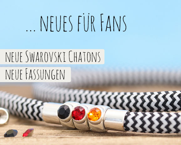 Fußball Schmuck mit Swarovski Chatons und Fassungen