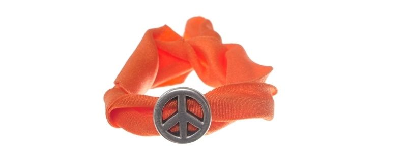 Lycra-Armband Orange Peace