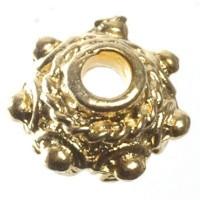 Metallperle Perlkappe , ca. 8 mm, vergoldet