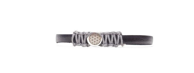 Armband mit gelasertem Slider Blume des Lebens