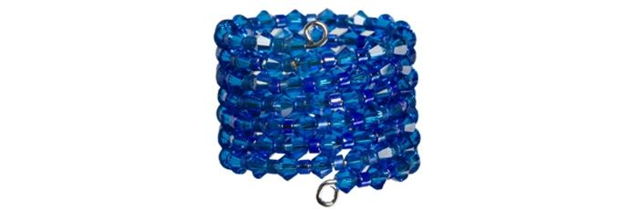 Memory Wire Ring Capri Blue