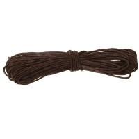 Gewachstes Baumwollband, rund, Durchmesser 0,5 - 0,8 mm, 5 m, dunkelbraun