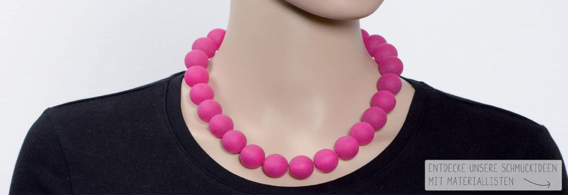 Eine Kettenlänge - verschiedene Perlengrößen
