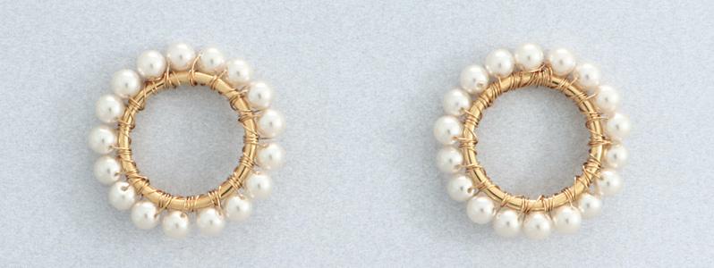 Ohrringe mit Nacre Perlen von Preciosa Kreis